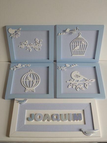 Quadros para decoração quarto de bebê