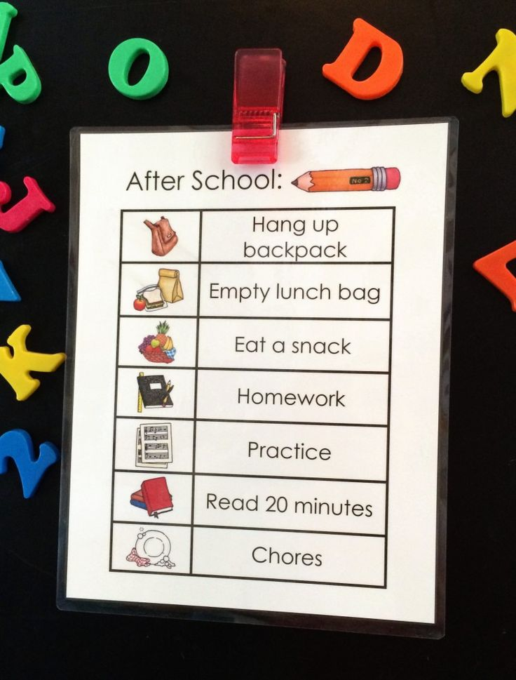 FREE PRINTABLE! After School Checklist For Kids   Made From Pinterest   Illustrations courtesy of Susan Fitch Illustration and Design