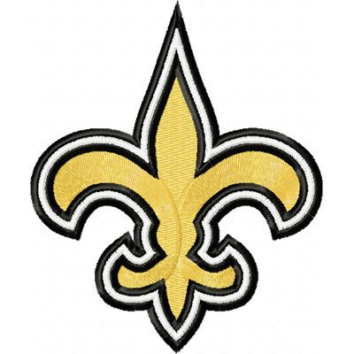 new orleans saints logo embroidery design embroidery pinterest shops logos and embroidery. Black Bedroom Furniture Sets. Home Design Ideas