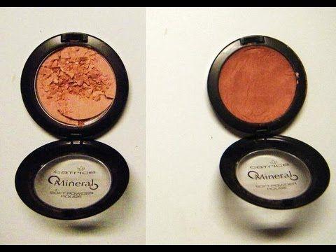 Plus d'INFO ci dessous Voici ma technique pour réparer un maquillage poudre compact (Blush, fard a paupiere, bronzer, fond de teint poudre..) qui ont cassé *...