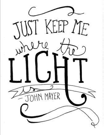 "John Mayer ""Stop This Train"" song lyrics. Typography"