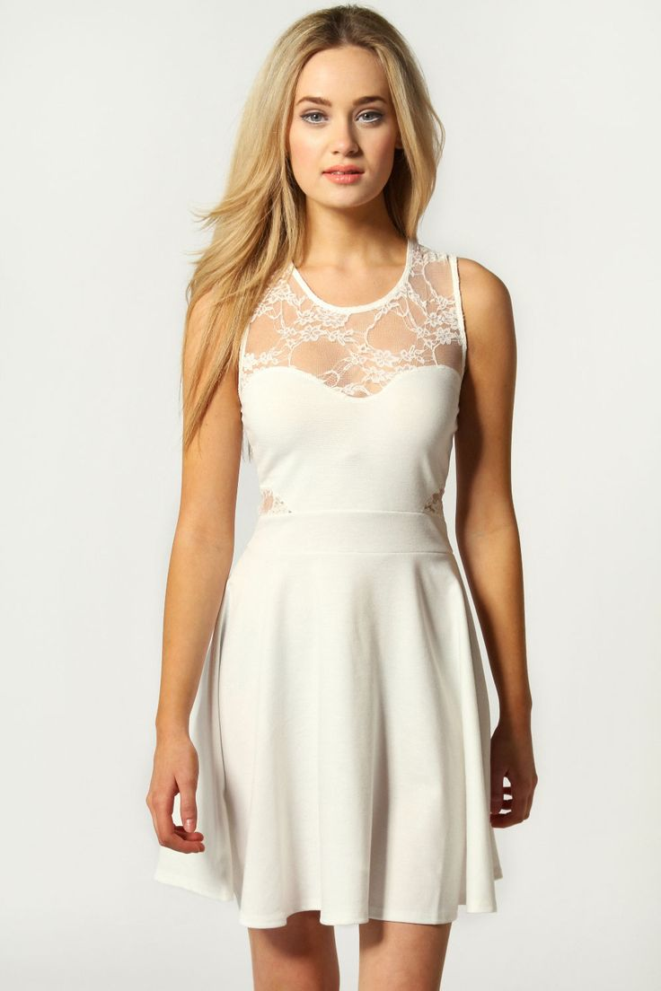 lauren lace insert skater dress at 40