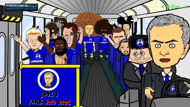 MOURINHO PARKS THE CHELSEA BUS (SONG) by 442oons