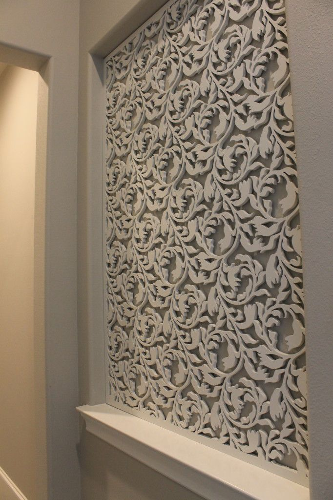 Laser cut wood panel / accent wall …