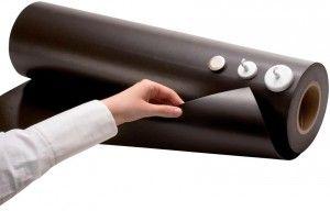 Eisenfolie | Ferrofolie | unbeschichtet | roh | braun | 0,4mm x 100cm x 100cm