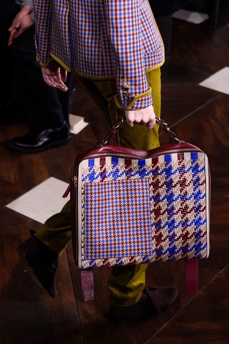Tory Burch opted to layer checks and plaids in this fall look.  Check Mate: Plaid Is Fall 2017's Must-Have Print Photos | W Magazine