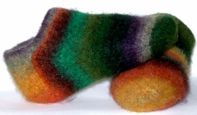 Fireside Footies Noro and Handspun   by Symeon North