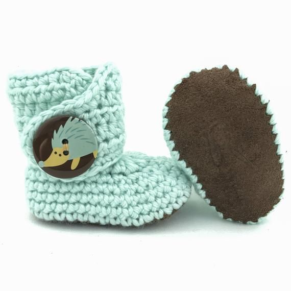 ca7d6e3a47d Soft bottom baby shoes make a thoughtful and unique baby shower gift! Our  crochet baby