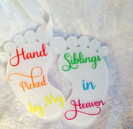 Rainbow Baby Due Rainbow Baby Hanging Keepsake by HarleyzCreations