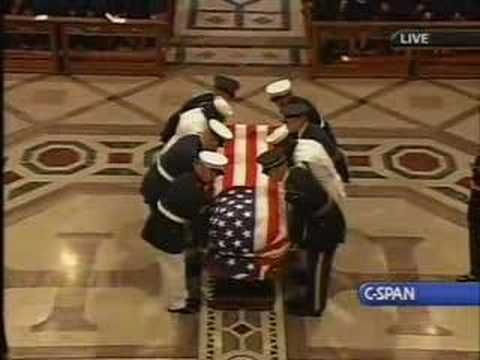 Ronald Reagan Funeral, he was a great man, I shed a tear every time I watch this, I look up to him and admire him a lot, God Bless You President Ronald Reagan.