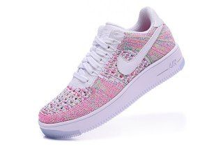05e1d50453fa Nike Air Force 1 Low Flyknit Pink Multicolor 820256 102 Womens Sneakers