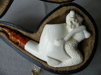 meerschaum pipe - nude mermaid lady