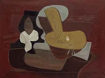PABLO PICASSO (1881-1973) MANDOLINE ET PORTÉE DE MUSIQUE