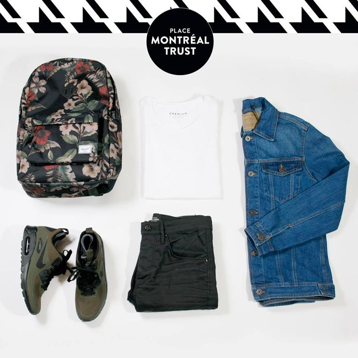 #PMTLook  Une veste #denim en hiver ? Oui, c'est possible ! #OOTD #JackJones #LittleBurgundy #Mtl #Shopping #Mtl #Men #Fashion