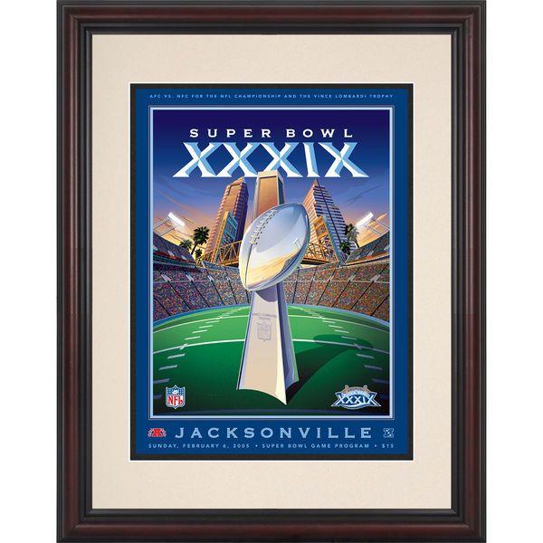 "Fanatics Authentic 2005 New England Patriots vs. Philadelphia Eagles 8.5"" x 11"" Framed Super Bowl XXXIX Program - $59.99"