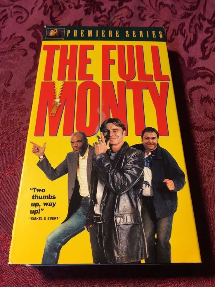 The Full Monty (1997 VHS) Robert Carlyle Tom Wilkinson Mark Addy SHIPS RIGHT NOW