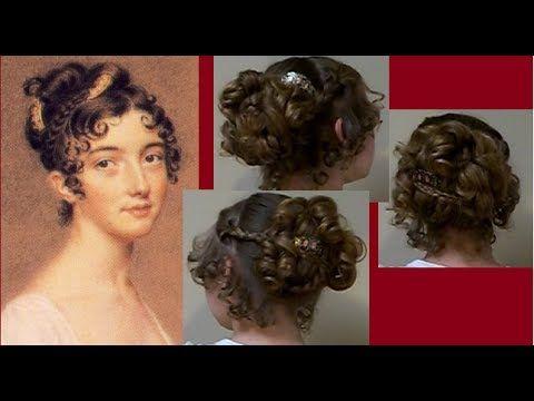 Fancy Regency Era Hair Tutorial ~ Ball Party Style ~ 1800s Period Jane Austen ~ +hairstyle takedown! - YouTube
