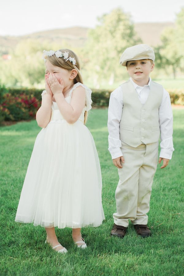 Adorable Flower Girl and Ring Bearer | Anya Kernes Photography