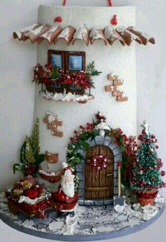 Teja decorada navideña