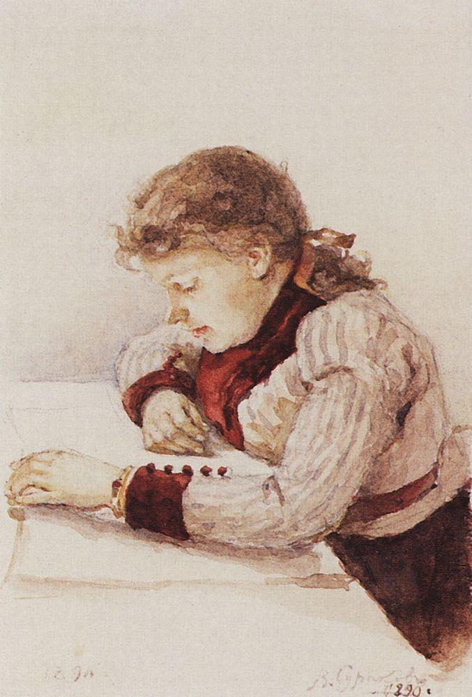 Портрет К.М.Верхотуровой.  1890