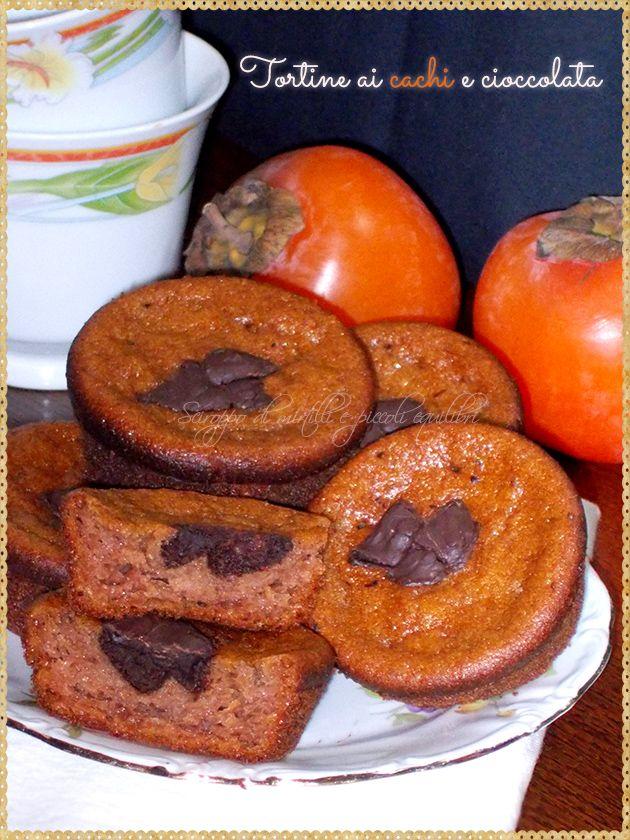 Tortine ai cachi e cioccolata (Kaki persimmons and chocolate)