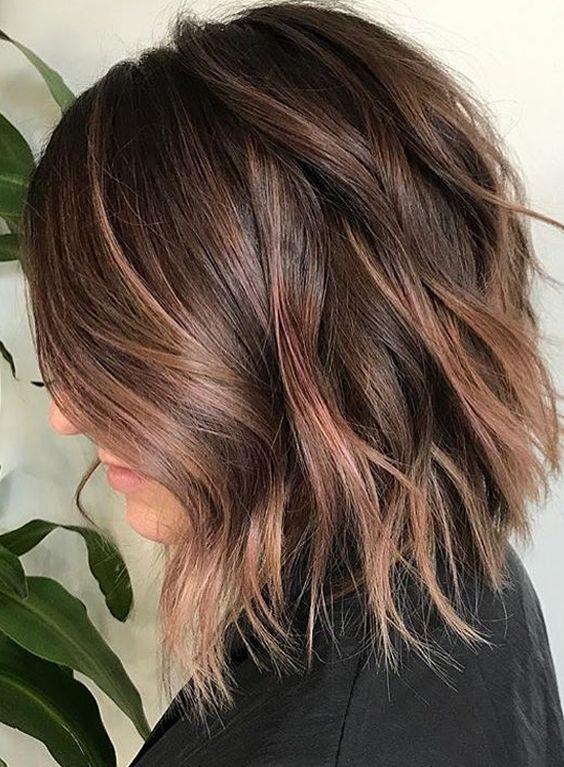 41 best fallwinter lob hair color styles 20172018