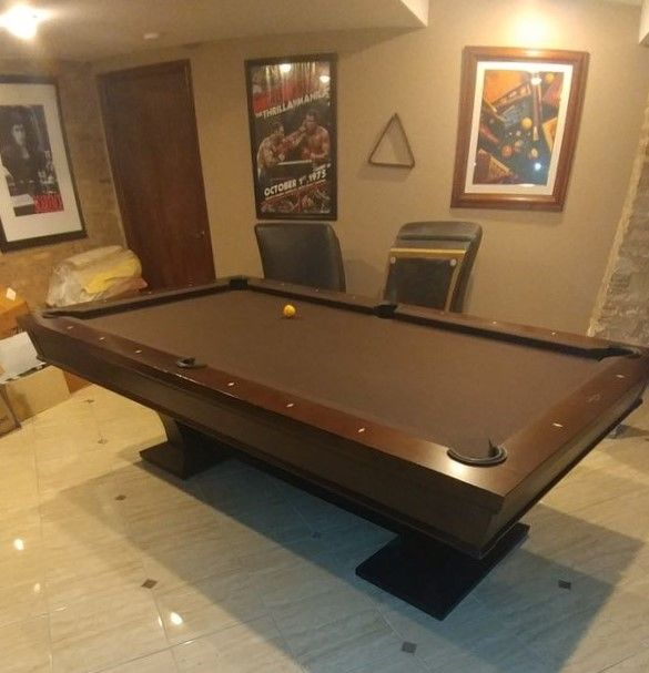 Solid Wood Good Condition 8' | Billiard pool table, Pool tables