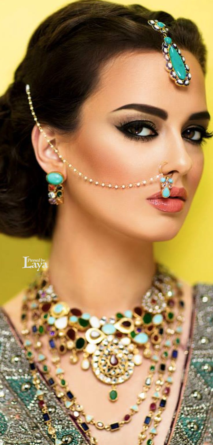 About nath nose ring mukku pudaka on pinterest jewellery gold nose -  Laya Indian Bride Indian Fashionindia Jewelrysweet Kissesbeautiful Modelsbeautiful Womennose