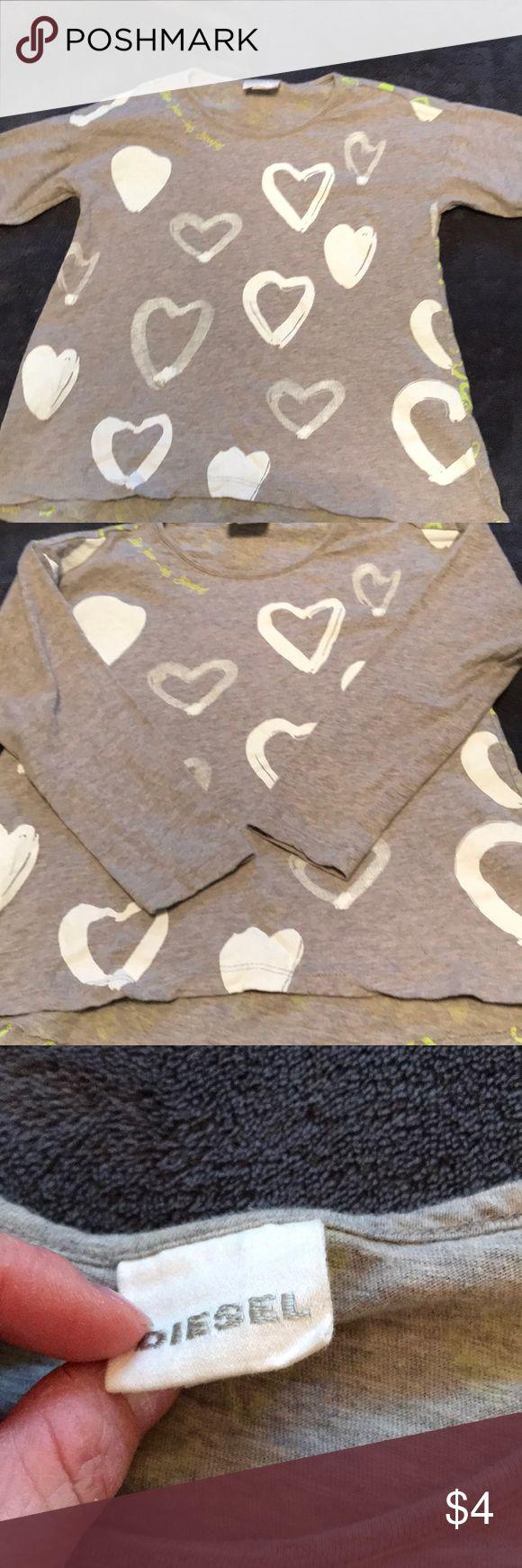 Diesel shirt Diesel shirt in girls xxs, shirt is in good used condition Diesel Shirts & Tops Tees - Long Sleeve