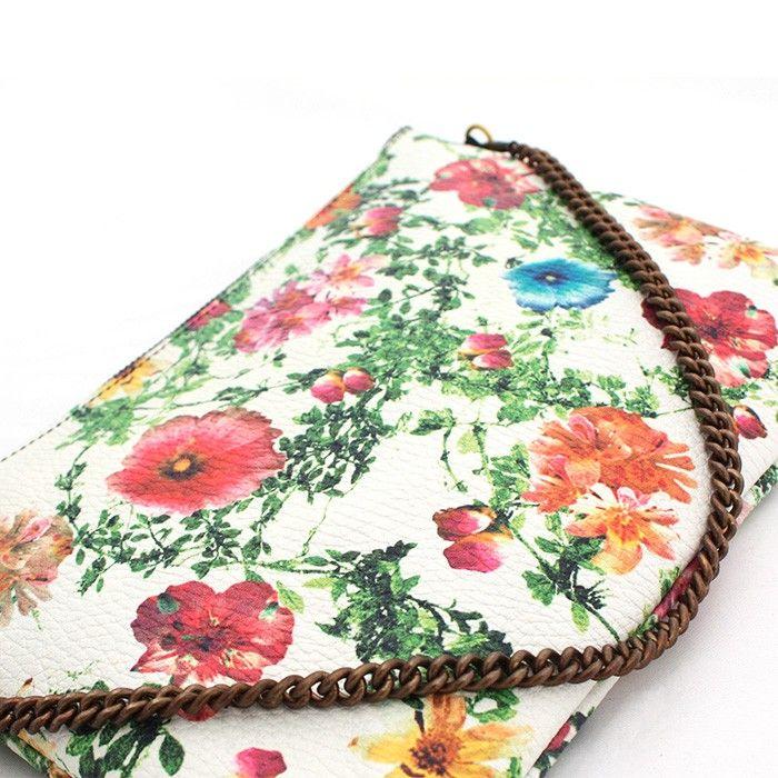 Flower Clutch #vangle #leather #genuineleather shop @ www.vangle.it