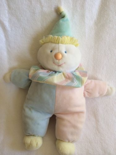 Eden Plush Pastel White Pink Blue Bear Teddy Baby Terry