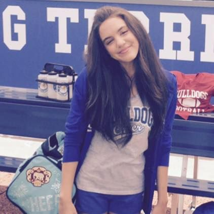 Lilimar(Sophie) on set Bella and the Bulldogs