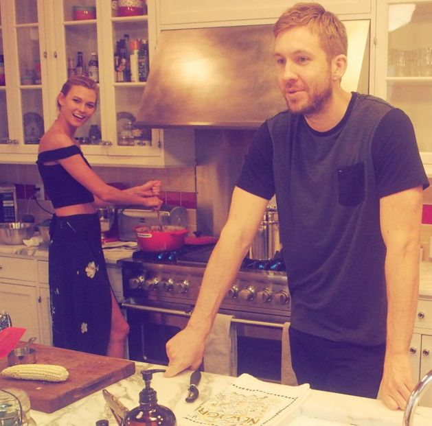 Taylor Swift wishes her BFF Karlie Kloss a happy birthday... With, erm, a picture of Calvin Harris