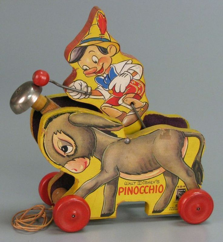 Fisher Price Plucky Pinocchio (No. 494) | pull toy | Pull Toys | Toys | Online Collections | The Strong