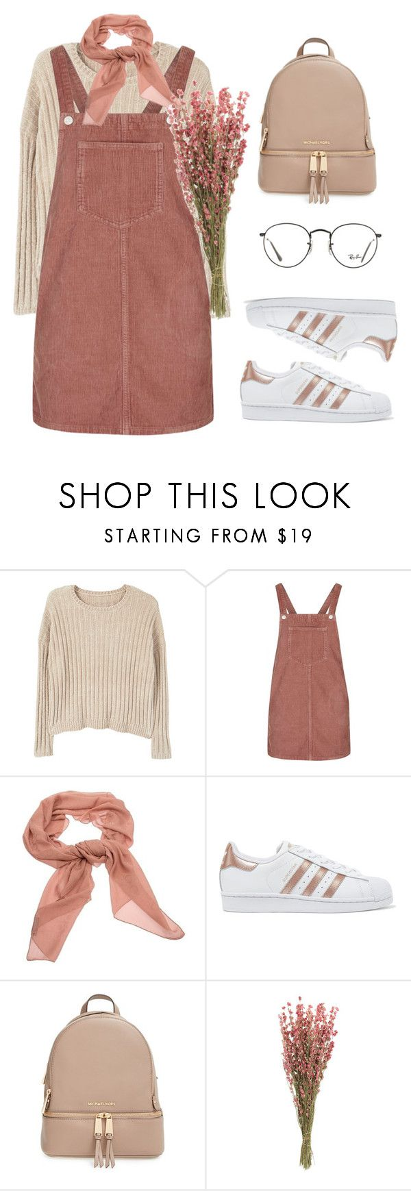 """""""10 ☼"""" by hey-nice-to-meet-you ❤ liked on Polyvore featuring MANGO, Topshop, Salvatore Ferragamo, adidas Originals, MICHAEL Michael Kors and Ray-Ban"""