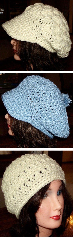 3 Vintage Style Hat Crochet Pattern Pdf by dianelangan on Etsy