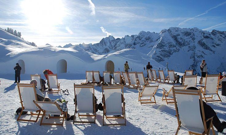 I have no idea how Eric's got in this mix of Euro apres ski hangouts!