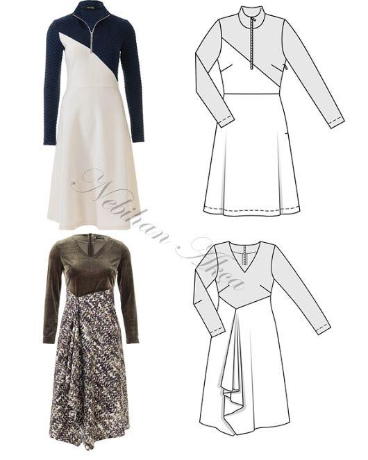Ne Diktim: Beli Tünel Detaylı Elbise
