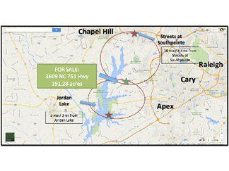 Apex, Wake County, North Carolina Land For Sale - 191.28 Acres