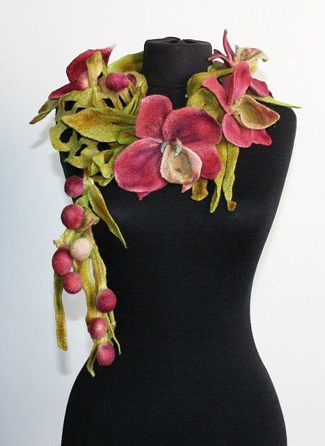 Stunning handmade felted scarf