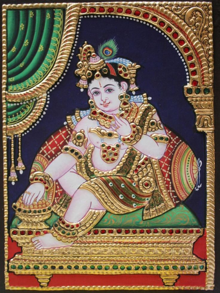 Tanjore PAinting Lord Krishna......