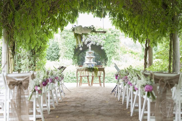 Ceremony set up | Rustic garden themed wedding | Alowyn Gardens, Yarra Glen | Concepts & Styling by One Wedding Wish