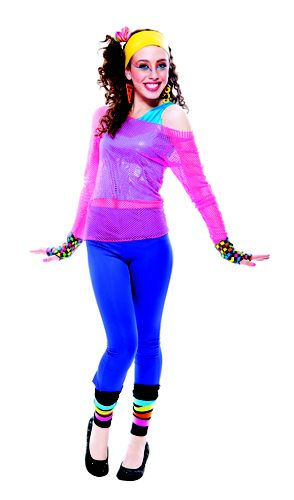 tween girls 80s dance star child halloween costume - 80s Dancer Halloween Costume