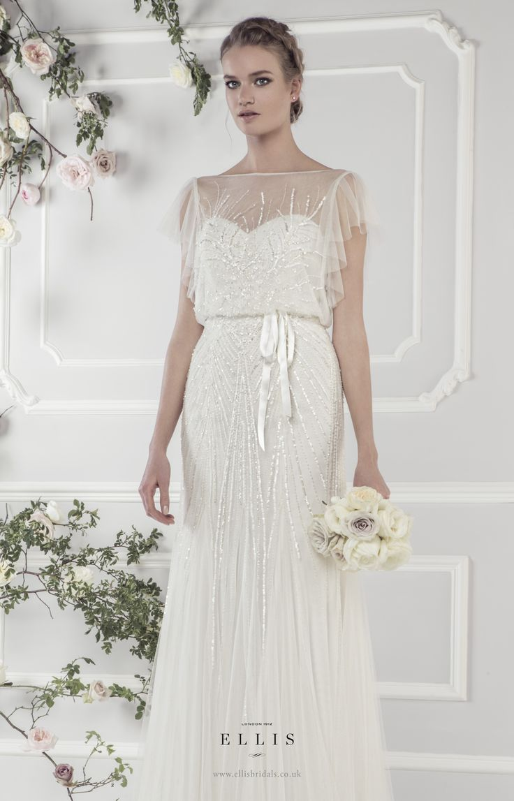 185 best wedding dresses images on pinterest wedding dressses ellis bridals rose wedding dresses collection 2015 style 15160 delicately sequinned style tulle dress with softly draped sleeves and satin tie belt ombrellifo Gallery