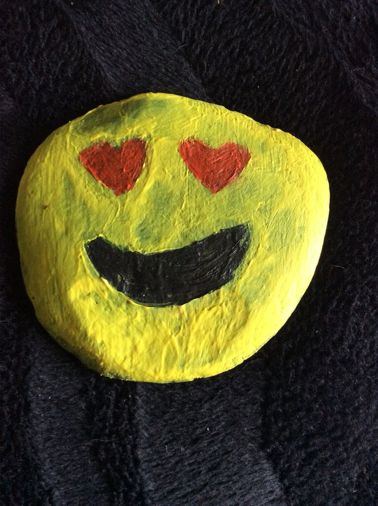 I Painted A Rock Emoji... I Often See Is Kind Of ''DIY