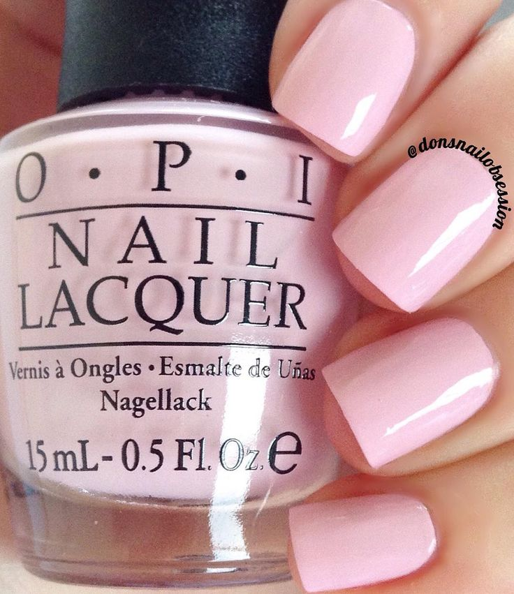 """opi Getting Nadi On My Honeymoon"""" a pastel pink nail shade from the OPI Fiji collection"""