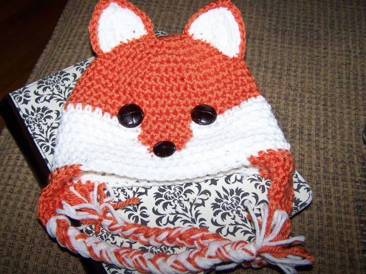 crochet fox hat @Tiffany Pharris look how cute!: Crochet Fox, Search ...