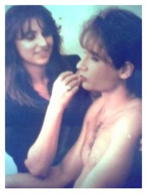 David Duchovny gets made up by Carla Fabrizi for Twin Peaks