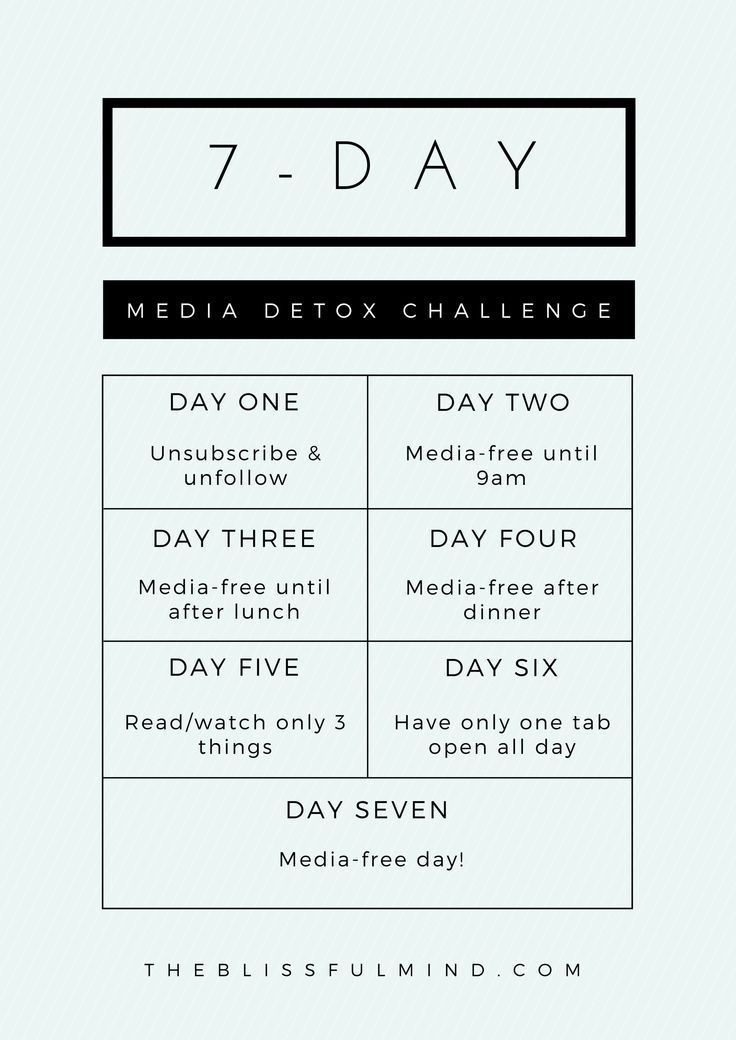 Join the 7-Day #MediaDetoxChallenge and get more selective about the information you consume!
