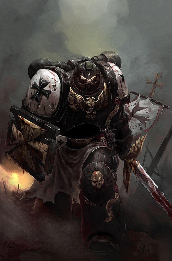 Warhammer 40k Black Templars Space Marine Artwork